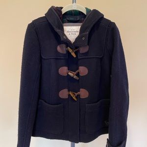 Abercrombie Women's Navy Wool Toggle Coat